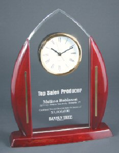 Cathedral Arch Clock Acrylic Award
