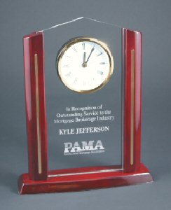Cathedral Rectangle Clock Acrylic Award