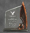 Clear Acrylic Award With a Resin Bronze Eagle