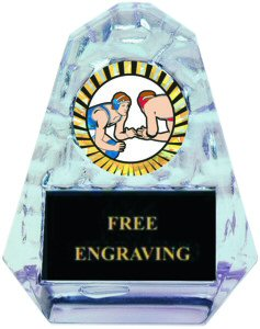 Pyramid Ice Wrestling Acrylic Award