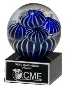 Sea Anemone Design Glass Globe Award