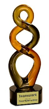 Brown Twist Art Glass