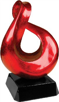 Red Art Sculpture Glass Award