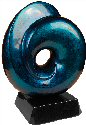 Blue Art Sculpture Glass Award
