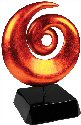 Orange Art Sculpture Glass Award