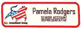 3 inch x 1 inch White Rectangle Plastic Name Badge