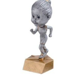 Girls Track Bobble Head Trophy