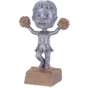 Girls Cheerleader Bobble Head Trophy