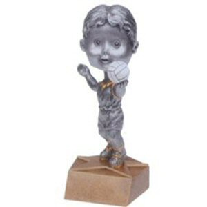 Girls Volleyball Bobble Head Trophy