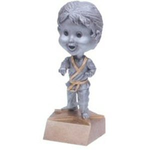 Girls Martial Arts Bobble Head Trophy