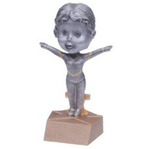 Girls Gymnast Bobble Head Trophy