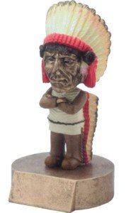 Indian Mascot Bobble Head Trophy
