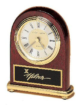 Rosewood Stained Piano Finish Desk Clock