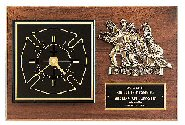 Firefighter  Award Clock Plaque