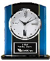 Black and Blue Glass Desk Clock