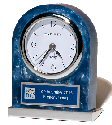 Blue Marbleized Acrylic Award Clock