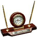 Desk Clock with Double Pen Set