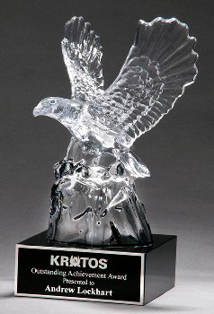 Beautiful Carved Crystal Eagle