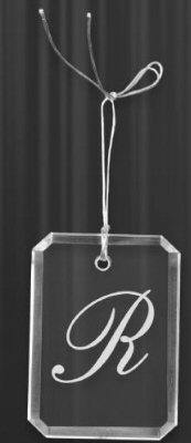 Engravable Crystal Rectangle Ornament
