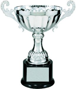 Silver Metal Loving Cup Trophy