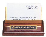 Rosewood Business Card Holder