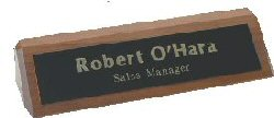 Genuine Walnut Desk Name Wedge