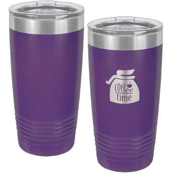 Purple Engraved Polar Tumbler