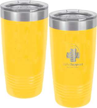 Yellow Engraved Polar Tumbler