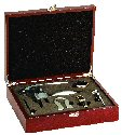 Five Piece Rosewood Finish Wine Gift Set