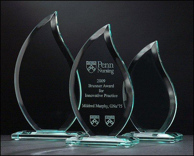 Flame Shaped Glass Award