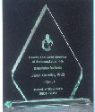 Diamond Shaped Glass Award