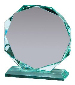 Octagon Shaped Glass Award