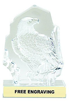 Sculpted Glass Eagle Award