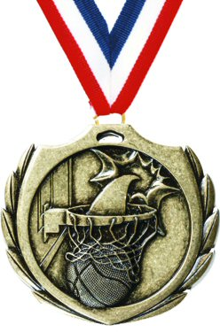 Burst Basketball Medal