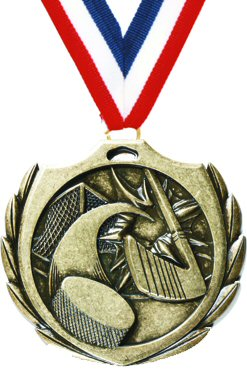 Burst Hockey Medal