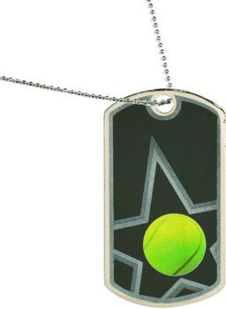 Star Tennis Dog Tag Medal