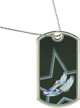 Star Running Theme Dog Tag Medal