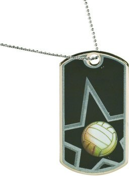 Star Volleyball Dog Tag Medal