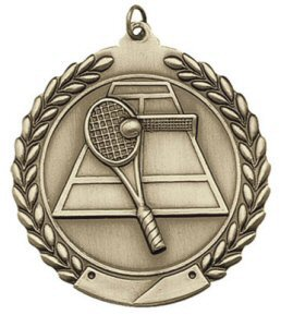 Economy Wreath Tennis Medal