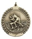 Economy Wreath Wrestling Medal