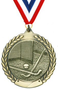 Economy Wreath Field Hockey Medal