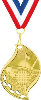 Flame Shape Golf Medal