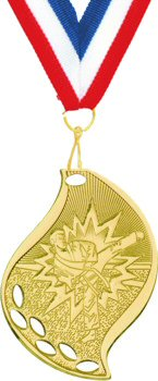 Flame Shape Martial Arts Medal