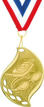 Flame Shape Swimming Medal