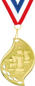 Flame Shape Chess Medal