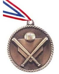 High Relief Baseball / Softball Medal