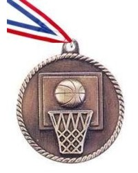 High Relief Basketball Medal