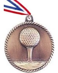 High Relief Golf Medal