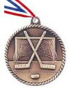 High Relief Hockey Medal