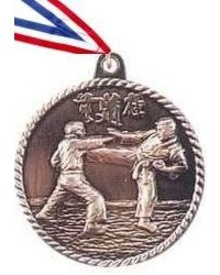 High Relief Karate Medal